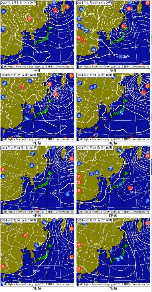週間 天気 図