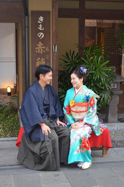 素敵な和装のご夫婦 花餅にいろどられ満面の笑み_d0230676_1221220.jpg