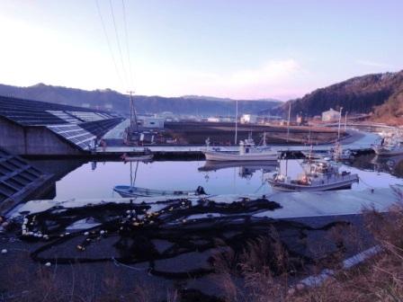 小本漁港の夜明け~2014年、本格復興に向けて_b0206037_931842.jpg