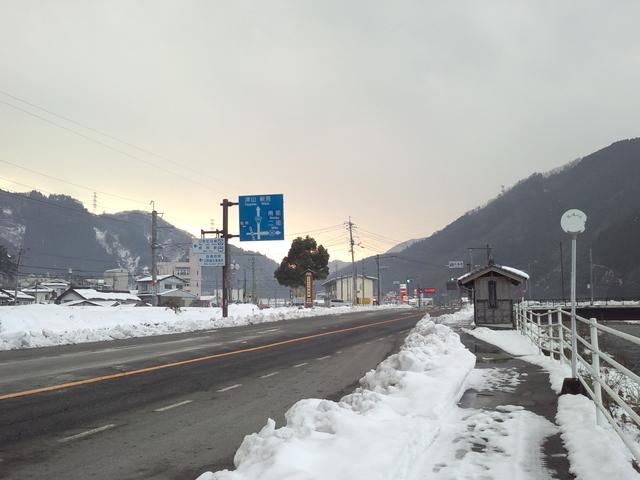 伯備線事故(2006年1月24日)現場に近い駅=根雨(ねう)駅付近_d0155415_13382094.jpg