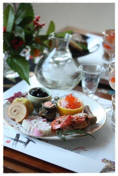 2014おせち料理テーブルコーディネート_b0165178_18221539.jpg