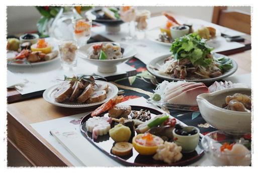2014おせち料理テーブルコーディネート_b0165178_18275254.jpg