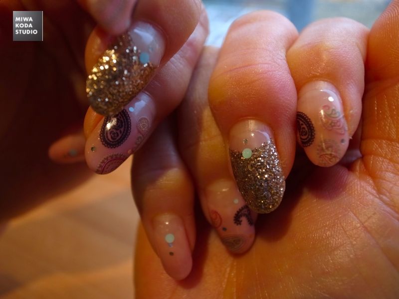 January 11, 2014 ゴージャスな爪 Nails in Gorgeous _a0307186_1395240.jpg