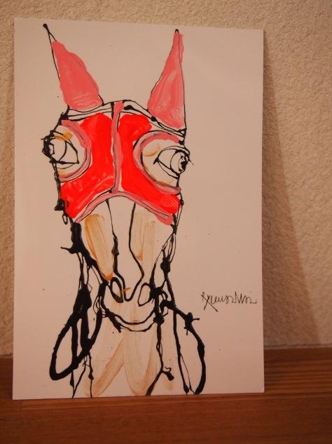 馬の年賀状☆_c0152341_13414560.jpg