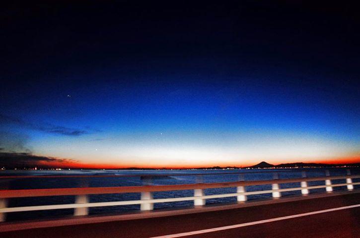アクアラインからのサンセット 富士山_c0067646_8114235.jpg