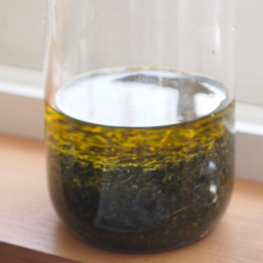 緑茶のインフューズドオイルとユズのチンキ_a0292194_1847045.jpg