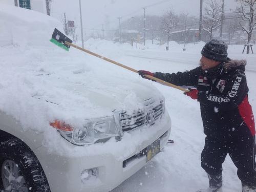 東京オートサロン準備の予定が除雪始めに、明寿ブログ、ランクル200ディーゼル_b0127002_20192575.jpg