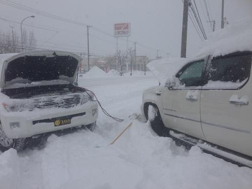 東京オートサロン準備の予定が除雪始めに、明寿ブログ、ランクル200ディーゼル_b0127002_20263463.jpg