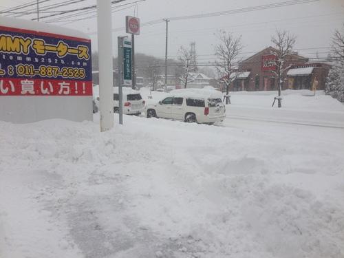 東京オートサロン準備の予定が除雪始めに、明寿ブログ、ランクル200ディーゼル_b0127002_20275732.jpg