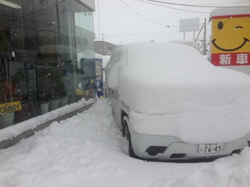 東京オートサロン準備の予定が除雪始めに、明寿ブログ、ランクル200ディーゼル_b0127002_20293216.jpg