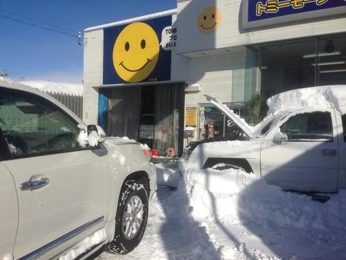東京オートサロン準備の予定が除雪始めに、明寿ブログ、ランクル200ディーゼル_b0127002_20314324.jpg