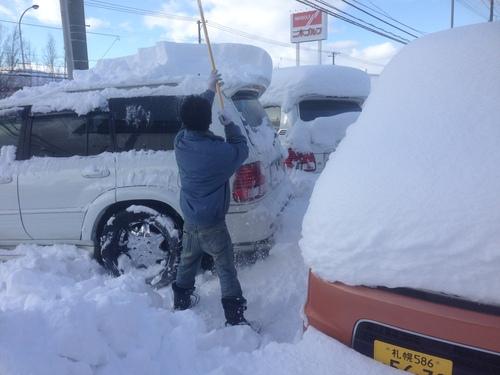 東京オートサロン準備の予定が除雪始めに、明寿ブログ、ランクル200ディーゼル_b0127002_20321979.jpg