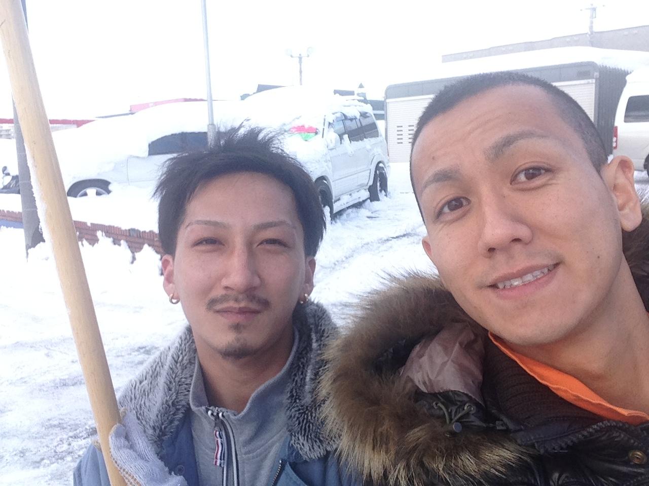 東京オートサロン準備の予定が除雪始めに、明寿ブログ、ランクル200ディーゼル_b0127002_2042984.jpg