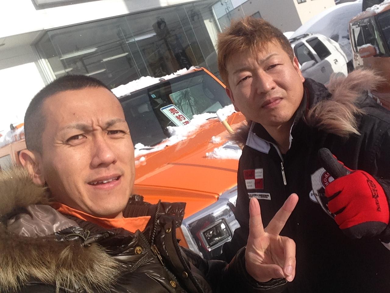 東京オートサロン準備の予定が除雪始めに、明寿ブログ、ランクル200ディーゼル_b0127002_20483555.jpg