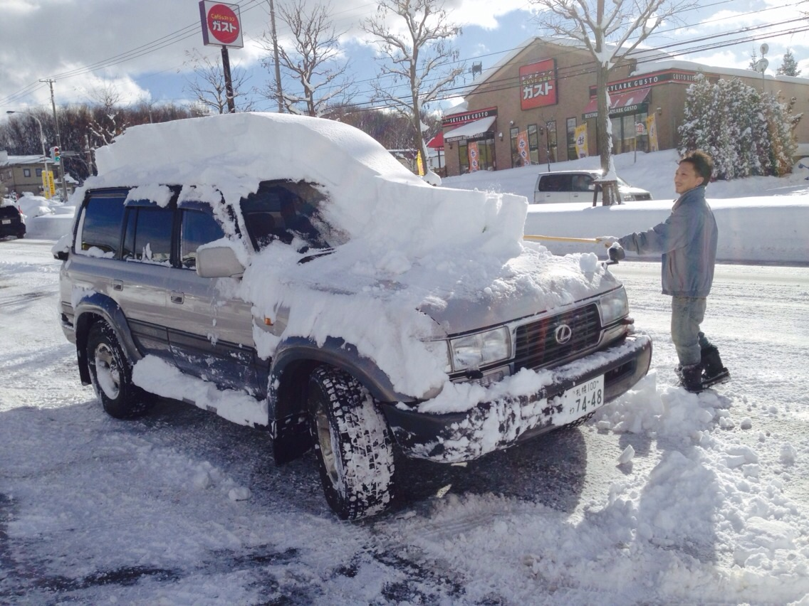東京オートサロン準備の予定が除雪始めに、明寿ブログ、ランクル200ディーゼル_b0127002_20505564.jpg