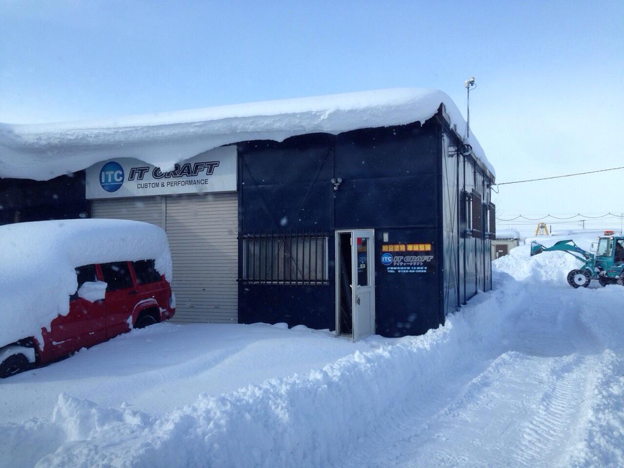 東京オートサロン準備の予定が除雪始めに、明寿ブログ、ランクル200ディーゼル_b0127002_20573912.jpg