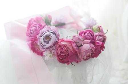 フラワーガールもしくはフラワードッグの花の首輪 ニュージーランドまで_a0042928_22181866.jpg
