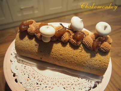 モンブランロールケーキを習う♪_f0238789_236424.jpg