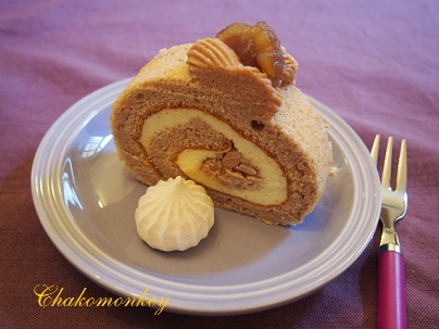 モンブランロールケーキを習う♪_f0238789_2421919.jpg