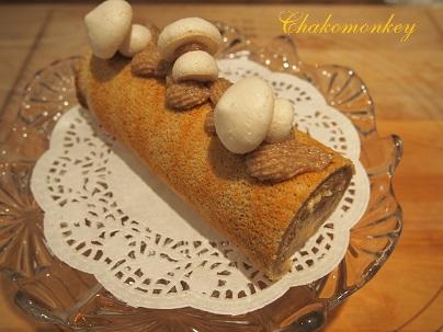 おうちでモンブランロールケーキの復習_f0238789_3103864.jpg