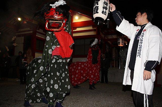 新春「居合道演武・獅子舞い」奉納_c0045448_20545996.jpg