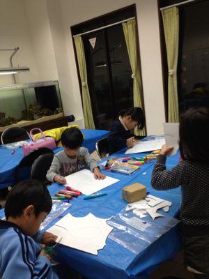 クリスマス工作 パズル あべの教室_f0215199_2339537.jpg