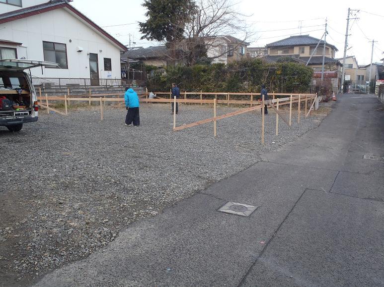 Q1住宅ーX1八幡:遣り方_e0054299_1231923.jpg