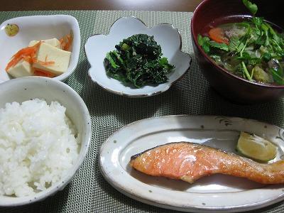 塩鮭定食♪_f0116812_9345450.jpg