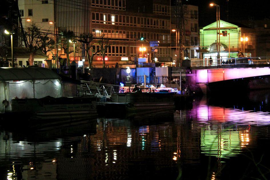 「徳島・・・新町川・朝と夜の風景」_d0133024_08405426.jpg