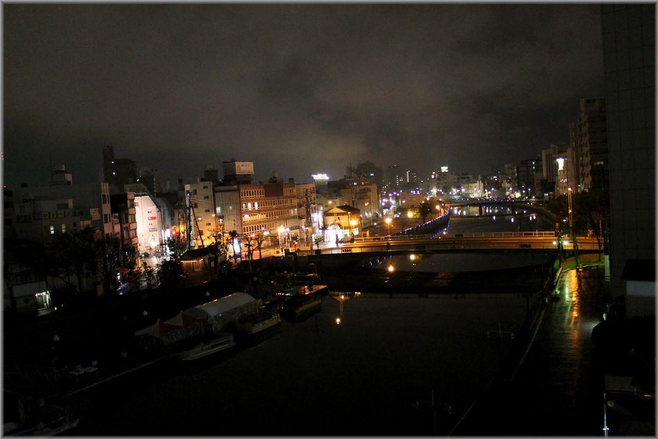 「徳島・・・新町川・朝と夜の風景」_d0133024_08483675.jpg