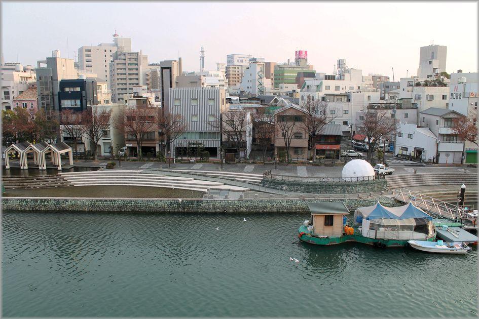 「徳島・・・新町川・朝と夜の風景」_d0133024_08532173.jpg