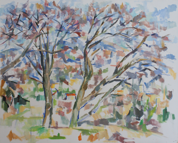 裸木とマザンの教会(第一段階)_c0236929_071156.jpg