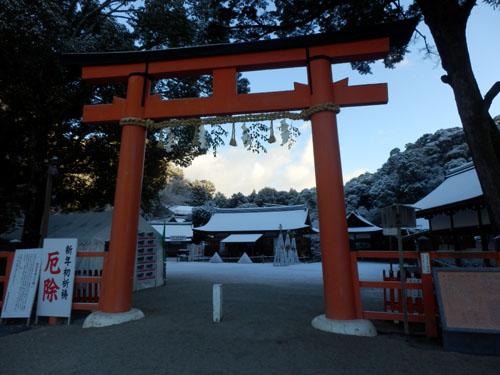 淡雪が 上賀茂神社_e0048413_1831386.jpg