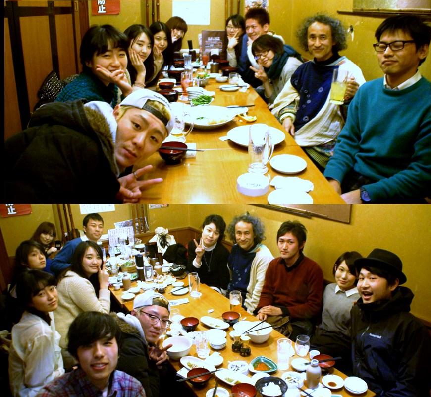 東京造形大学映画専攻クラスの授業後に新年会@庄屋_f0006713_01181632.jpg
