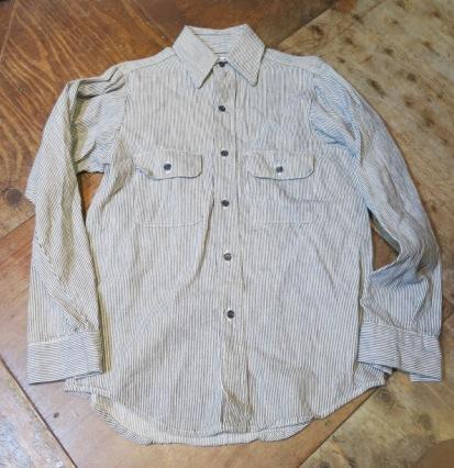 1月11日(土)入荷商品!デッドストック 80's FIVE BROTHERS ヒッコリーシャツ!_c0144020_16553927.jpg