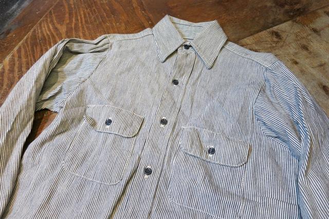 1月11日(土)入荷商品!デッドストック 80's FIVE BROTHERS ヒッコリーシャツ!_c0144020_16554336.jpg