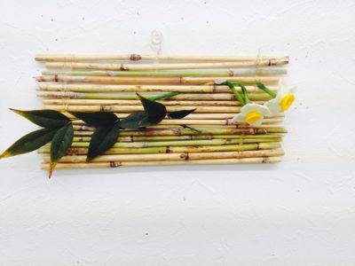 新年会のブチクラフト、葦草のコースター兼壁飾り_c0131063_11255796.jpg