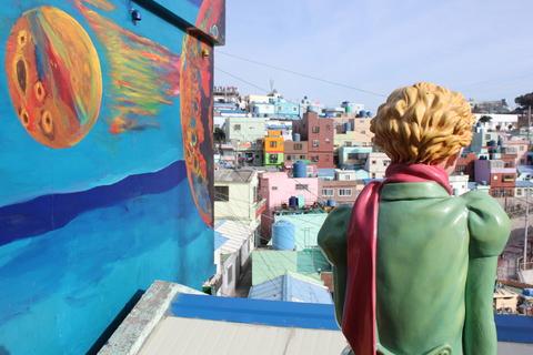 釜山の旅、その3。釜山の壁画村、甘川洞(カムチョンドン)のタルトンネ_a0223786_1111362.jpg