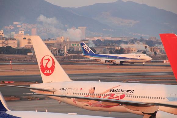 伊丹空港レポ ボーイング747-ダッシュ400 テクノジャンボ飛来_d0202264_8375051.jpg
