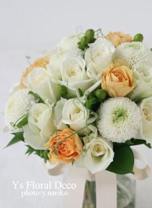 生花のヘッドドレスとクラッチブーケ 八芳園さんへ_b0113510_1762762.jpg