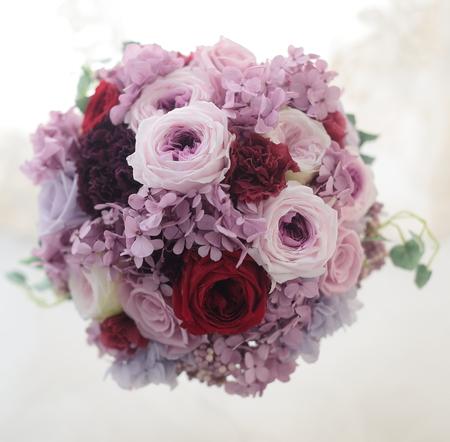 プリザーブドフラワーブーケ 紫とボルドー_a0042928_2135448.jpg