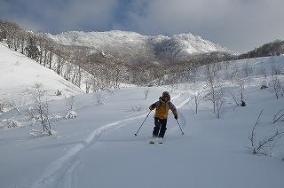 立石林道から鷲ヶ岳(東面滑降)_e0064783_22262637.jpg