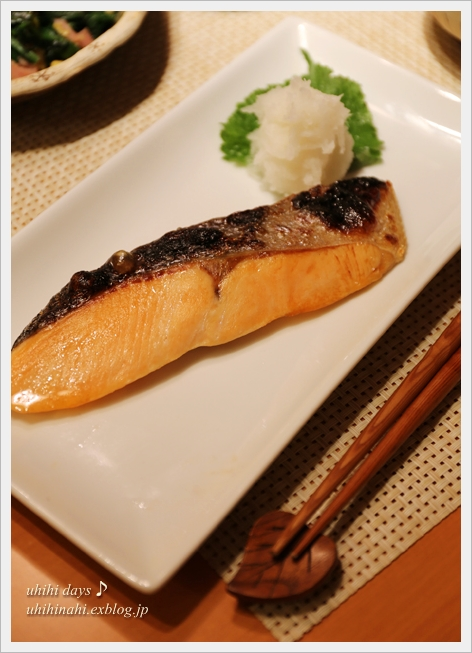 ふんわりたまごとほうれん草炒めと焼鮭定食_f0179404_21284368.jpg