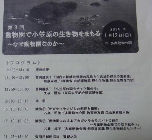 多摩動物公園                講演会、南国蝶2014/01/12①_d0251807_1854755.jpg