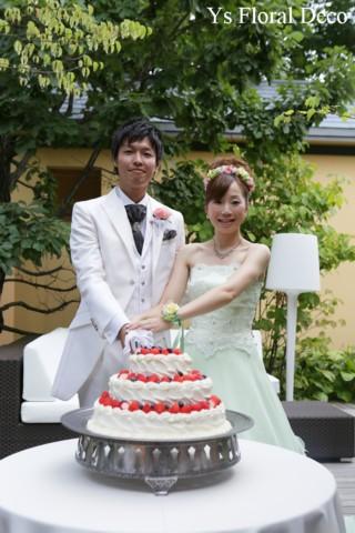 シャーベットグリーンのドレスにあわせる花冠&リストレット 軽井沢へ_b0113510_11173680.jpg