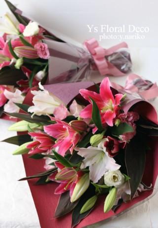 濃いピンク色のドレスにあわせるブーケと花冠 ウェスティンホテル東京さんへ_b0113510_11284837.jpg