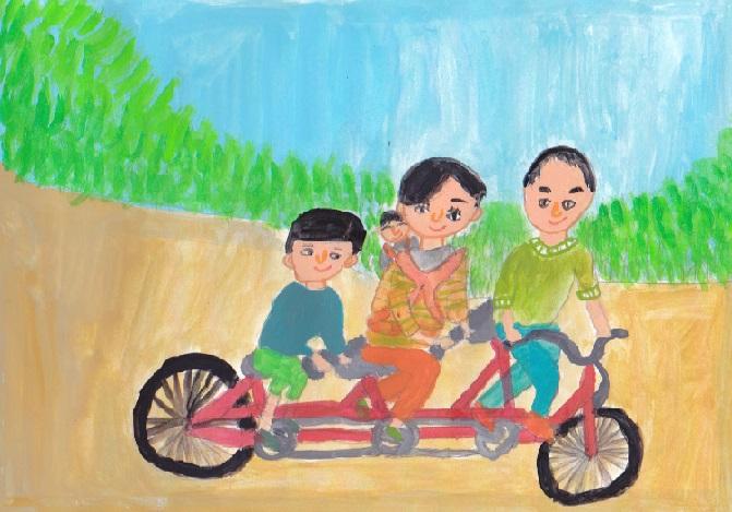 「3人乗り自転車」_d0259392_0422141.jpg