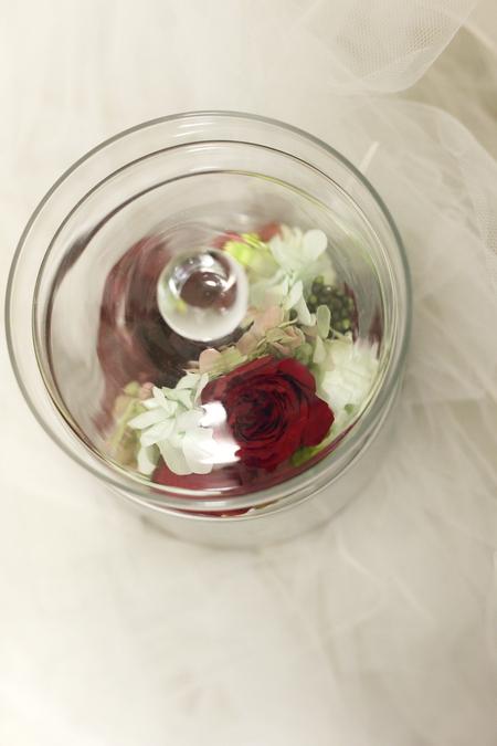 リリメリア 和装の髪飾りの花をフレーム仕立てに 結婚式後の花の保存方法_a0042928_18465496.jpg