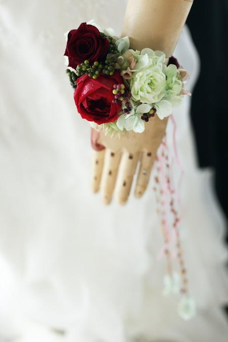 リリメリア 和装の髪飾りの花をフレーム仕立てに 結婚式後の花の保存方法_a0042928_1847245.jpg