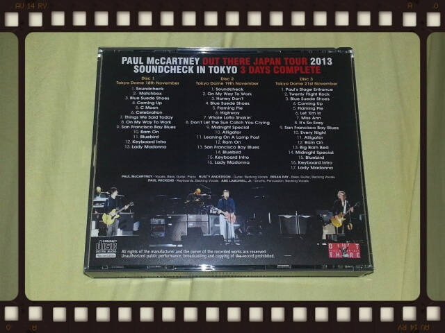 PAUL McCARTNEY / OUT THERE JAPAN TOUR 2013 SOUNDCHECK IN TOKYO 3 DAYS COMPLETE_b0042308_03765.jpg